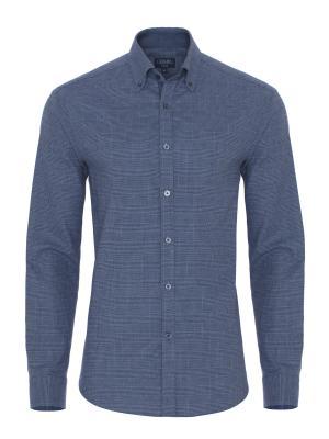 Germirli - Germirli Mavi Lacivert Kareli Flanel Tailor Fit Gömlek