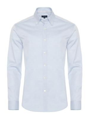 Germirli - Germirli Mavi Oxford Düğmeli Yaka Tailor Fit Gömlek