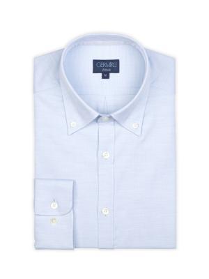 Germirli - Germirli Mavi Oxford Düğmeli Yaka Tailor Fit Gömlek (1)