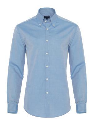 Germirli - Germirli Mavi Panama Tailor Fit Gömlek