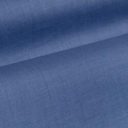 Germirli Mavi Twill Doku Gizli Pat Tailor Fit Gömlek - Thumbnail
