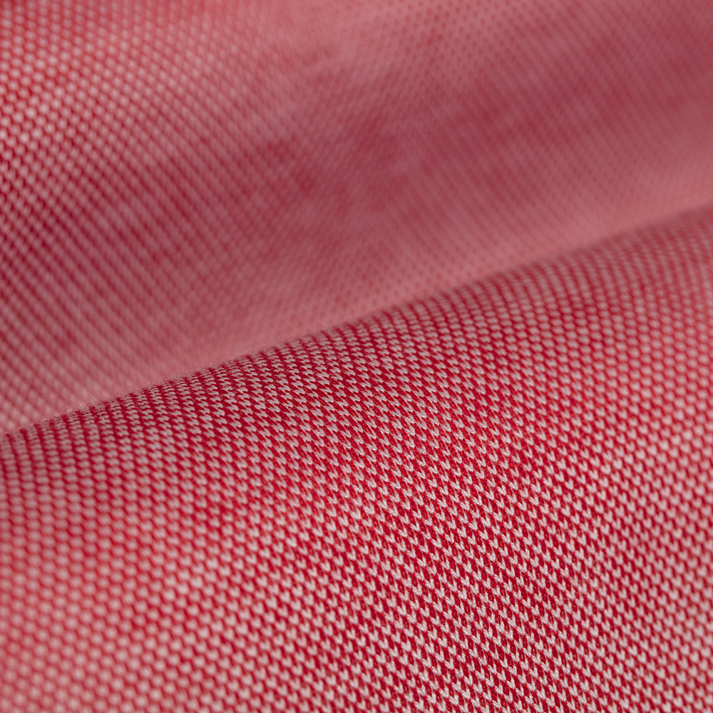 Germirli Mercan Kırmızısı Klasik Yaka Piquet Örme Tailor Fit Gömlek