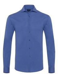 Germirli - Germirli Mor Italyan Yaka Örme Slim Fit Gömlek