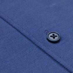 Germirli Mor Italyan Yaka Örme Slim Fit Gömlek - Thumbnail