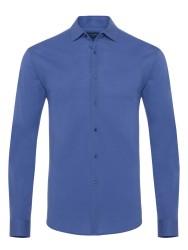 Germirli - Germirli Mor Soft Yaka Örme Tailor Fit Gömlek