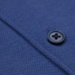 Germirli Mor Soft Yaka Örme Tailor Fit Gömlek - Thumbnail