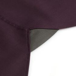 Germirli Mürdüm Panama Doku Düğmeli Yaka Tailor Fit Gömlek - Thumbnail