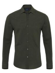 Germirli - Germirli Nefti Yeşili Klasik Yaka Piquet Örme Tailor Fit Gömlek