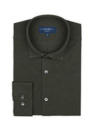 Germirli - Germirli Nefti Yeşili Klasik Yaka Piquet Örme Tailor Fit Gömlek (1)