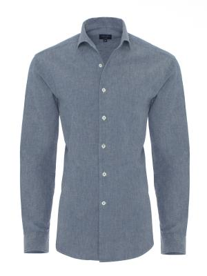 Germirli Nevapaş Spread Collar Blue Indigo Tailor Fit Shirt