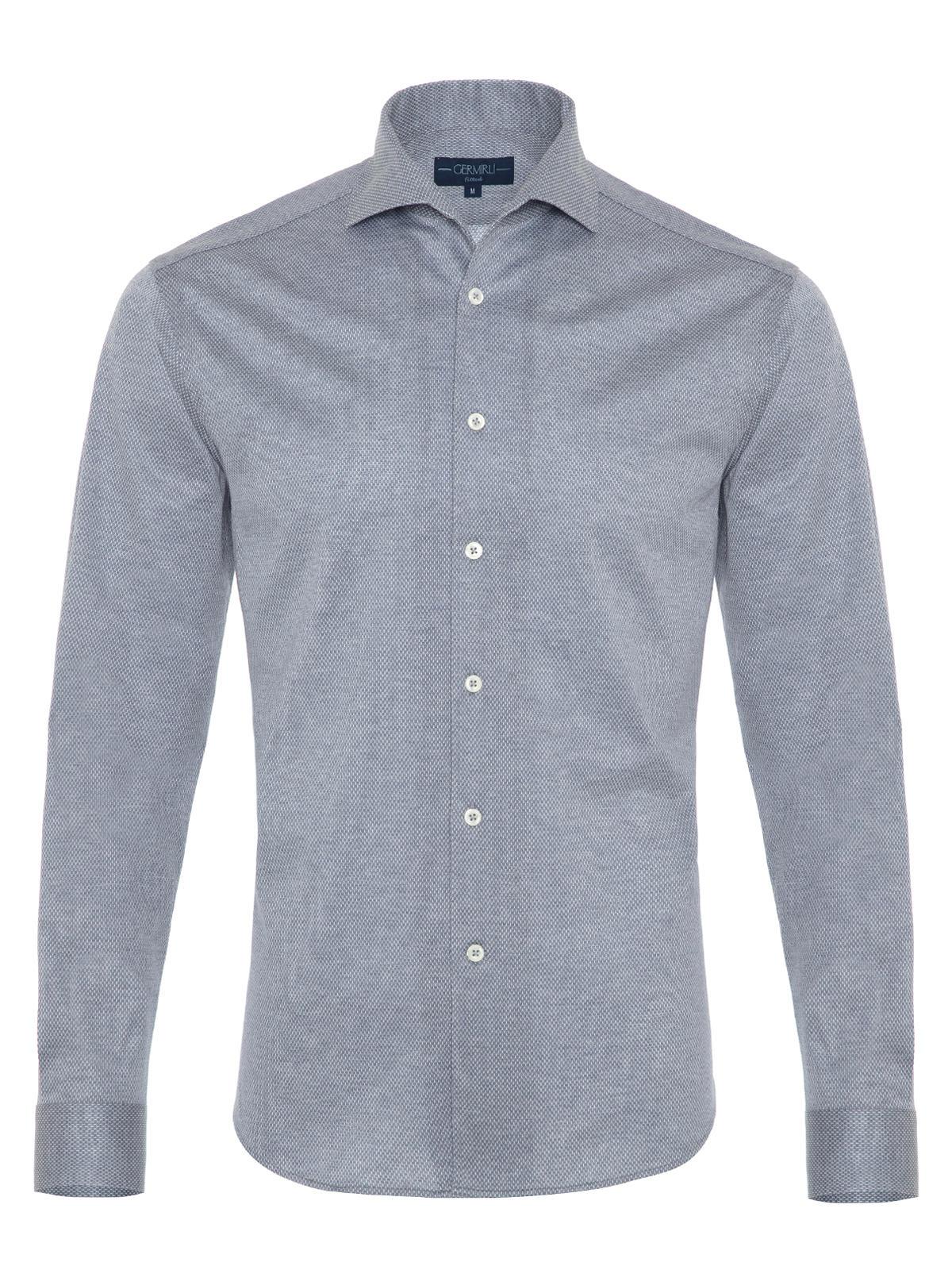 Germirli Nevapaş Spread Collar Grey Tailor Fit Shirt