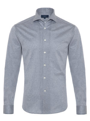 Germirli - Germirli Nevapaş Spread Collar Grey Tailor Fit Shirt