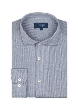 Germirli - Germirli Nevapaş Spread Collar Grey Tailor Fit Shirt (1)