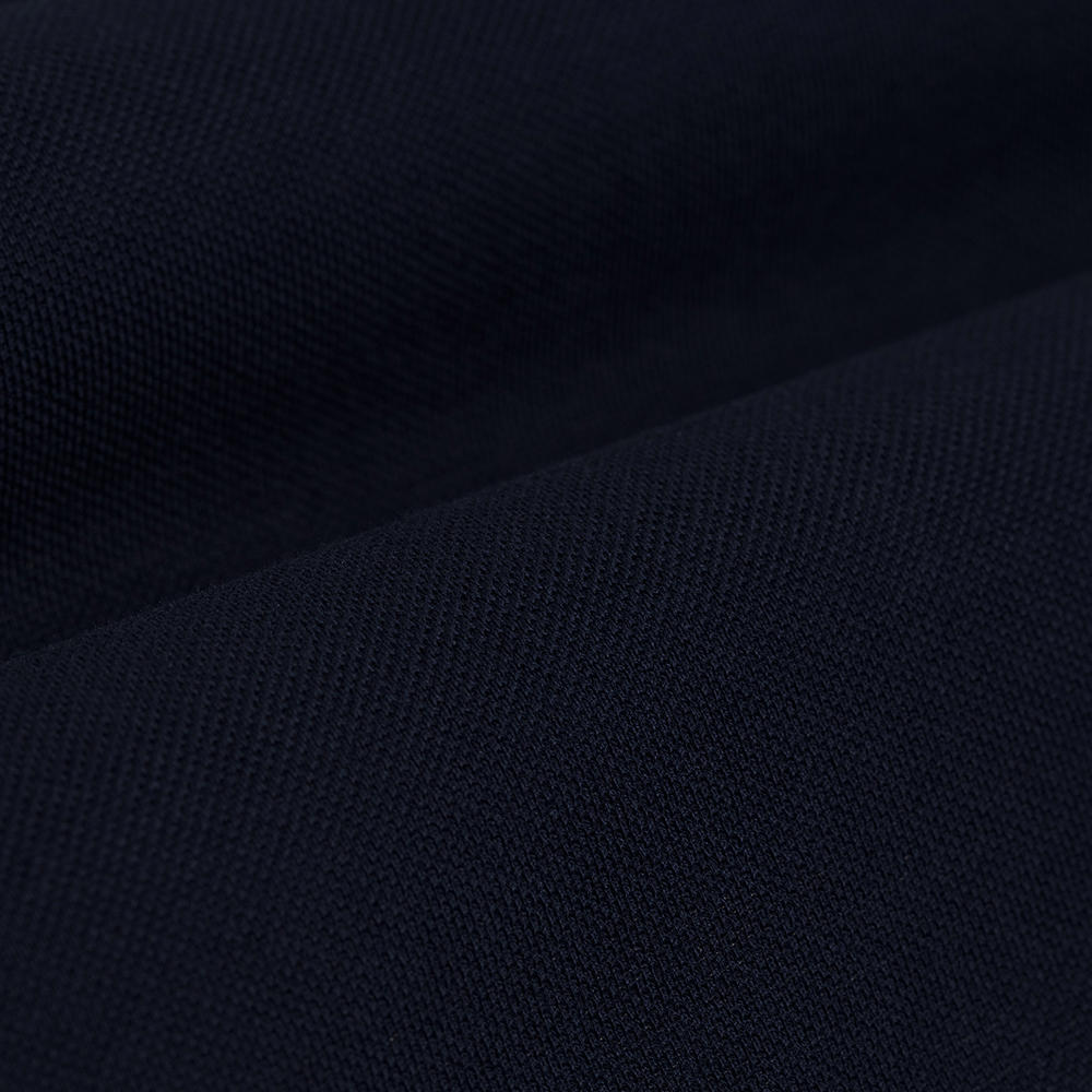 Germirli Nevapaş Spread Collar Navy Blue Tailor Fit Piquet Knitted Shirt