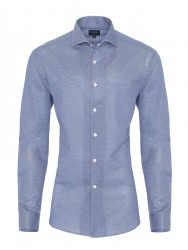 Germirli - Germirli Nevapaş Spread Collar Piquet Knitted Slim Fit Shirt