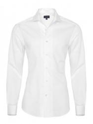 Germirli Nevapas Spread Collar White Tailor Fit Shirt - Thumbnail