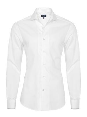 Germirli - Germirli Nevapaş Tek Parça Yaka Beyaz Dokulu Tailor Fit Gömlek