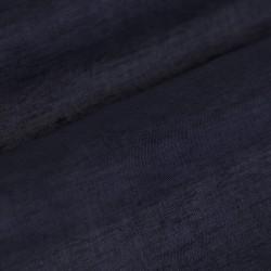 Germirli Nevapaş Tek Parça Yaka Lacivert Keten Tailor Fit Gömlek - Thumbnail