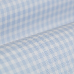 Germirli Non Iron Açık Mavi Beyaz Kareli Düğmeli Yaka Tailor Fit Journey Gömlek - Thumbnail