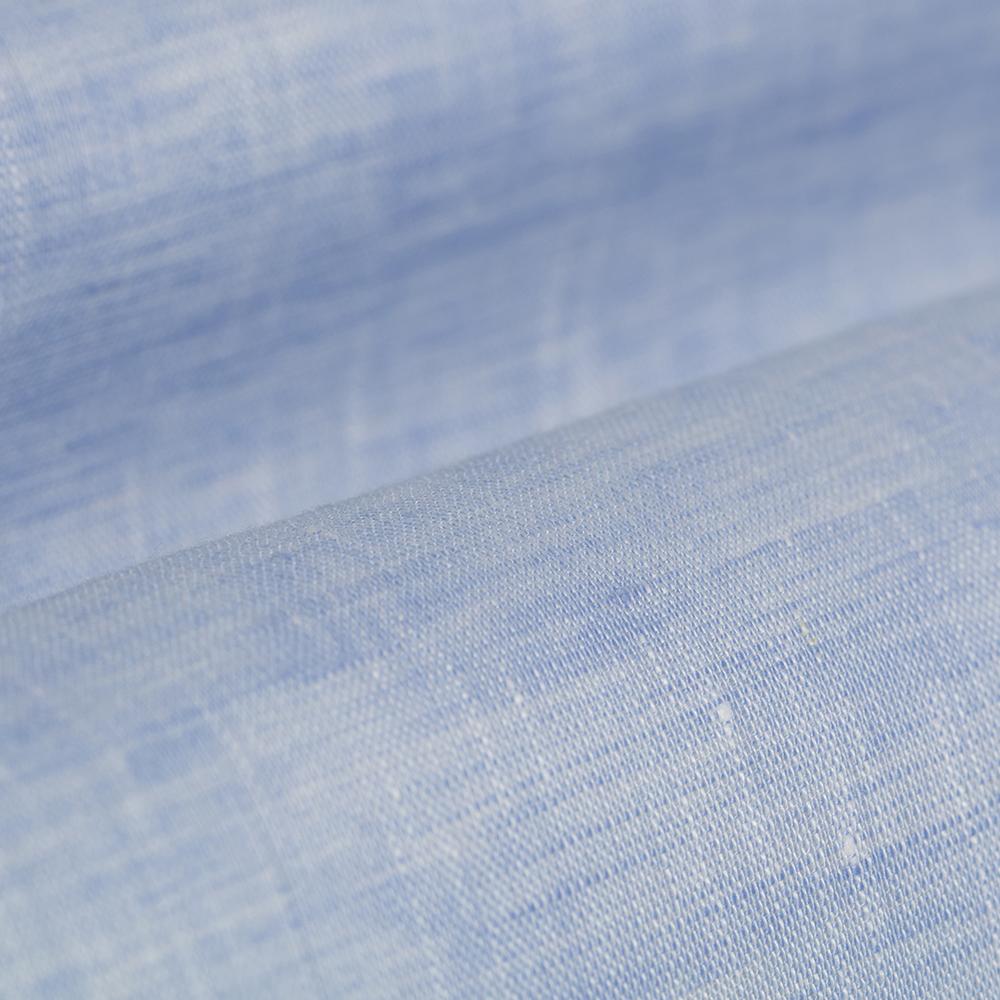Germirli Non Iron Açık Mavi Keten Düğmeli Yaka Tailor Fit Journey Gömlek