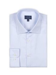 Germirli - Germirli Non Iron A.Mavi Beyaz Çizgili Klasik Yaka Tailor Fit Journey Gömlek (1)