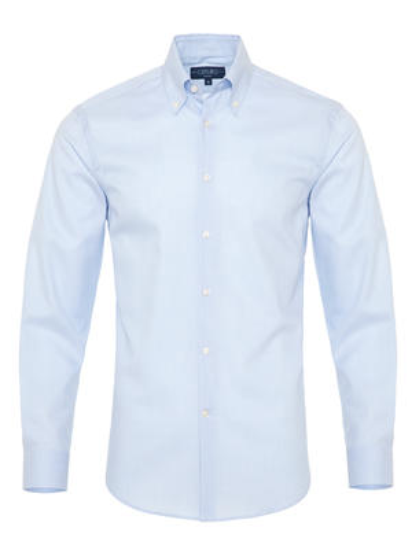 Germirli - Germirli Non Iron A.Mavi Beyaz Kareli Düğmeli Yaka Tailor Fit Zero 24 Gömlek