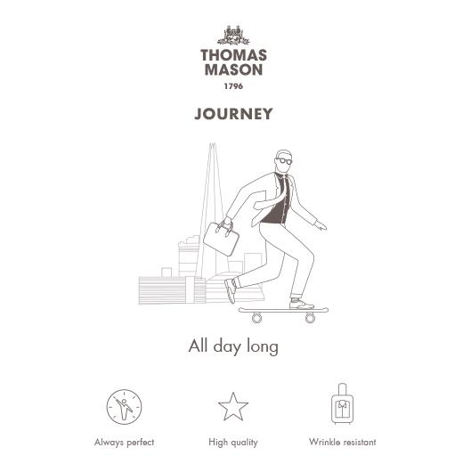 Germirli Non Iron A.Mavi Beyaz Kareli Klasik Yaka Tailor Fit Journey Gömlek
