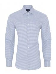 Germirli Non Iron A.Mavi Beyaz Kareli Klasik Yaka Tailor Fit Journey Gömlek - Thumbnail