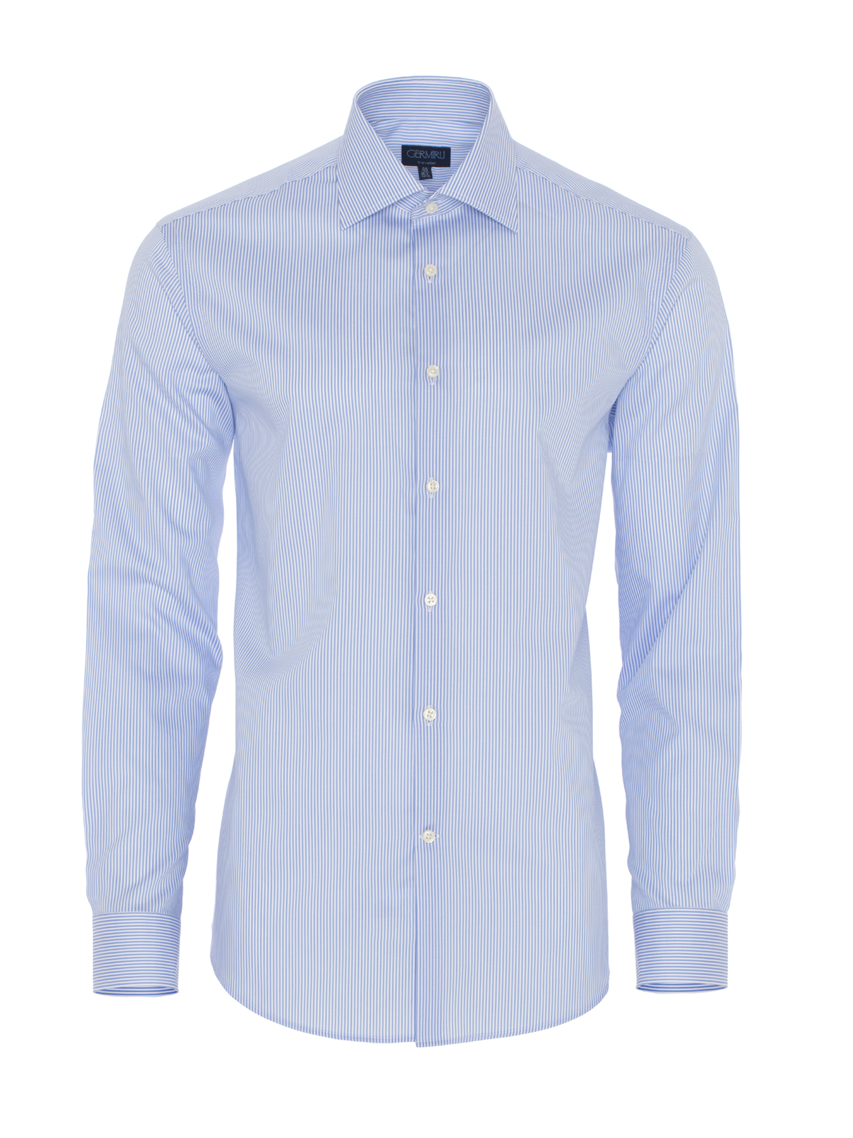 Germirli Non Iron A.Mavi Çizgili Tailor Fit Gömlek