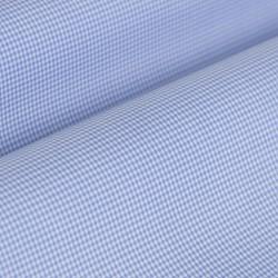 Germirli Non Iron Açık Mavi Kareli Düğmeli Yaka Tailor Fit Gömlek - Thumbnail