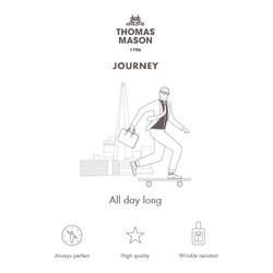 Germirli Non Iron A.Mavi Kareli Klasik Yaka Tailor Fit Journey Gömlek - Thumbnail