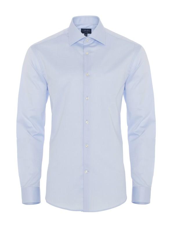 Germirli - Germirli Non Iron A.Mavi Twill Tailor Fit Gömlek