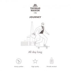 Germirli Non Iron Beyaz Mavi Çizgili Düğmeli Yaka Tailor Fit Journey Gömlek - Thumbnail