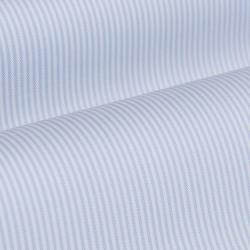 Germirli Non Iron Beyaz Mavi İnce Çizgili Düğmeli Yaka Tailor Fit Journey Gömlek - Thumbnail