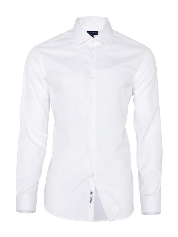Germirli - Germirli Non Iron Beyaz Oxford Klasik Yaka Tailor Fit Jouney Gömlek