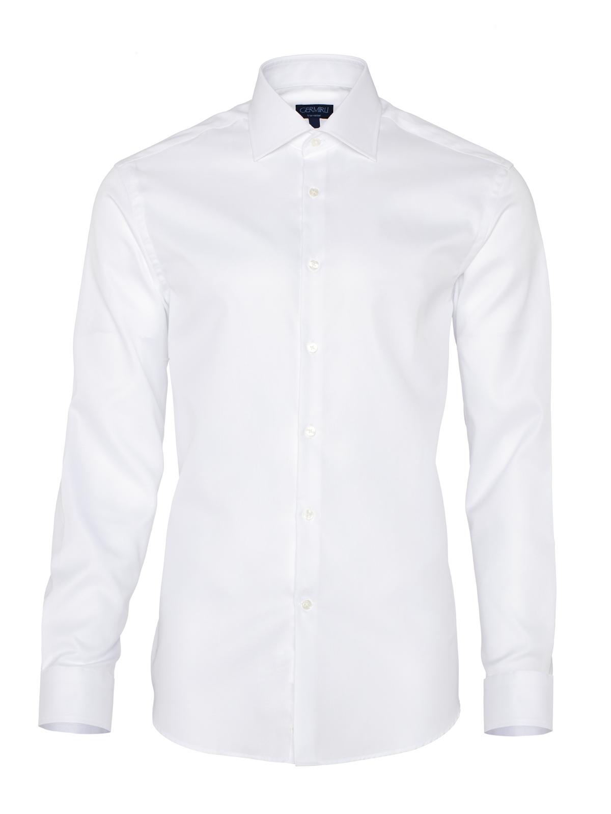 Germirli Non Iron Beyaz Poplin Klasik Yaka Tailor Fit Journey Gömlek