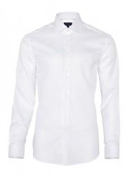 Germirli Non Iron Beyaz Poplin Klasik Yaka Tailor Fit Journey Gömlek - Thumbnail