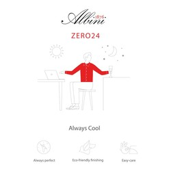 Germirli Non Iron Beyaz Twill Düğmeli Yaka Tailor Fit Zero 24 Gömlek - Thumbnail