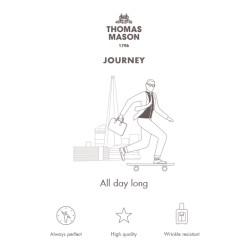 Germirli Non Iron Beyaz Twill Klasik Yaka Duble Manşetli Tailor Fit Journey Gömlek - Thumbnail
