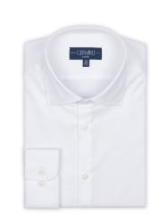 Germirli - Germirli Non Iron Beyaz Twill Klasik Yaka Tailor Fit Gömlek (1)
