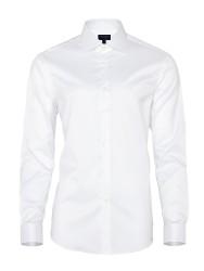Germirli - Germirli Non Iron Beyaz Twill Klasik Yaka Tailor Fit Gömlek