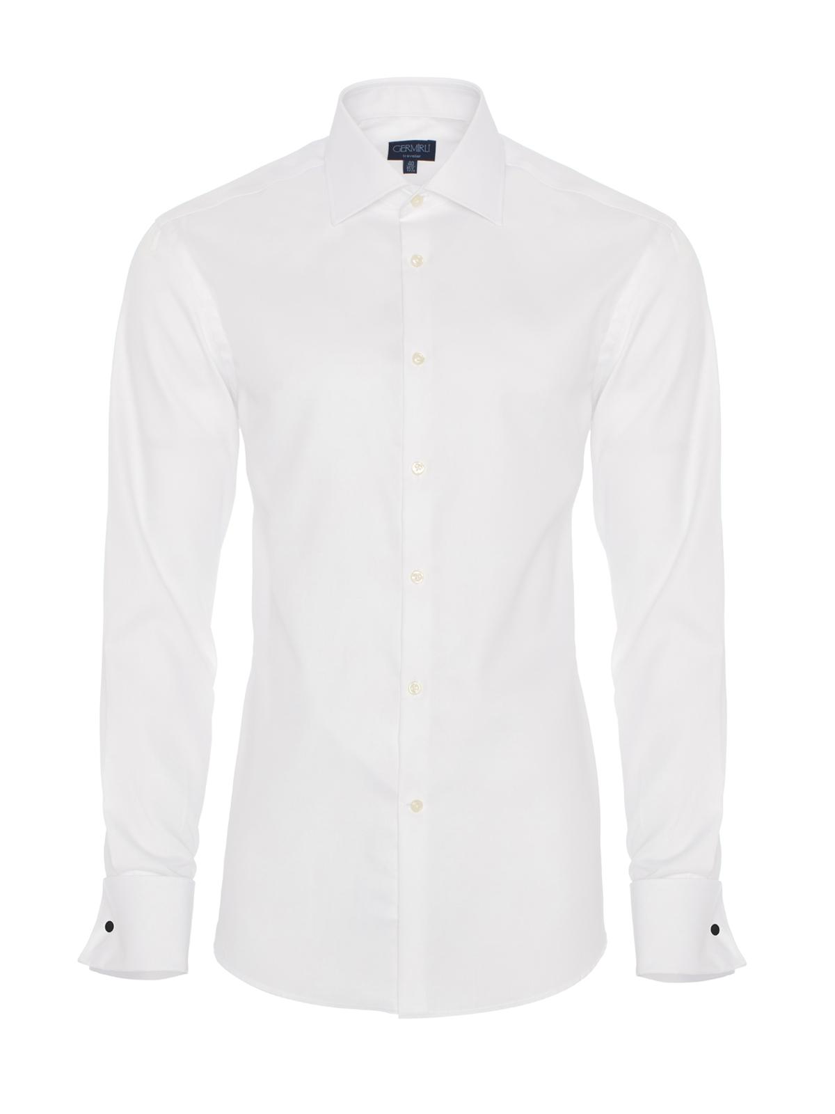 Germirli Non Iron Twill Klasik Yaka Tailor Fit Beyaz Journey Gömlek