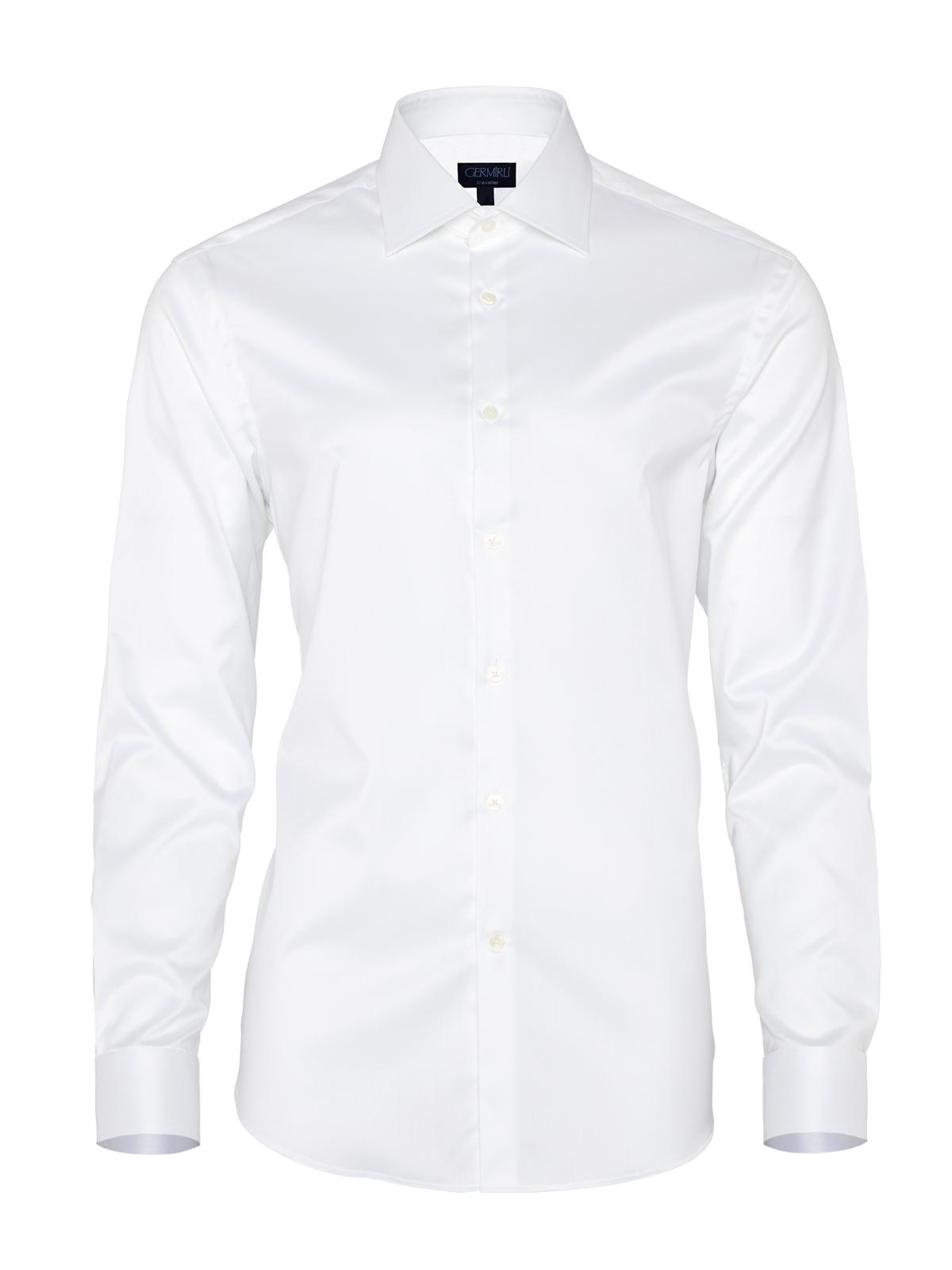 Germirli Non Iron Beyaz Twill Tailor Fit Gömlek