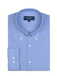 Germirli - Germirli Non Iron Blue Button Down Collar Tailor Fit Zero 24 Shirt (1)