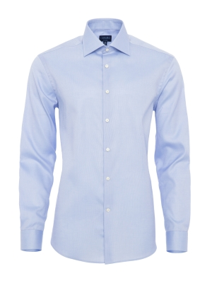 Germirli Non Iron Blue Oxford Semi Spread Tailor Fit Journey Shirt