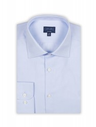 Germirli - Germirli Non Iron Blue Twill Semi Spread Tailor Fit Journey Shirt (1)