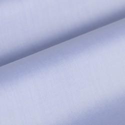 Germirli Non Iron Blue Twill Semi Spread Tailor Fit Shirt - Thumbnail