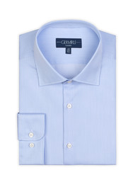 Germirli - Germirli Non Iron Blue White Semi Spread Tailor Fit Journey Shirt (1)