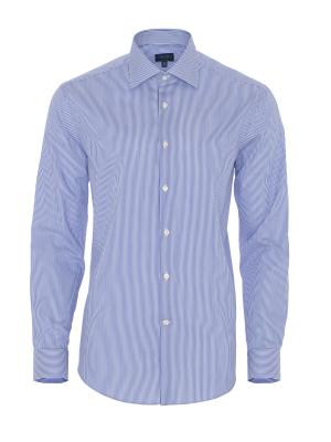 Germirli Non Iron Dark Blue Pencil Stripe Tailor Fit Shirt