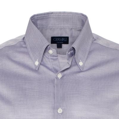 Germirli - Germirli Non Iron Gri Oxford Düğmeli Yaka Tailor Fit Swiss Cotton Gömlek (1)